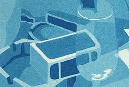 Blue Table – Silk Screen